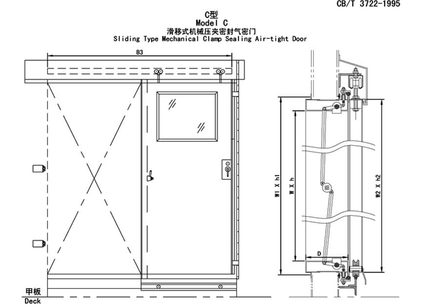 marine Airtight Door